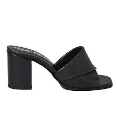 Curtain Mid-Heel Sandal