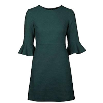 Textured Bell Sleeve Dress