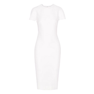 Silk and Wool-Blend Crepe Dress
