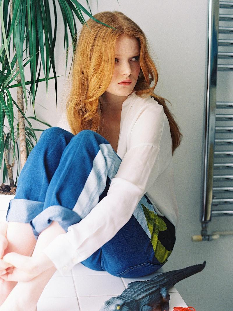 Red hair teen girl