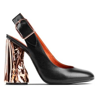 Odelia Palm Black Heel