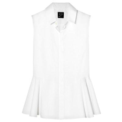 Cotton-Poplin Peplum Shirt