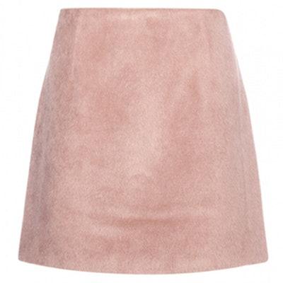 Alpaca-Blend Skirt