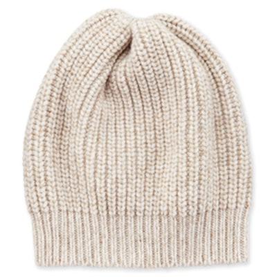 Cashmere-Blend Paillette Beanie Hat