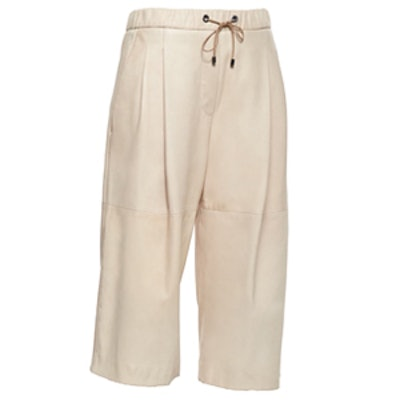 Leather Drawstring Culottes