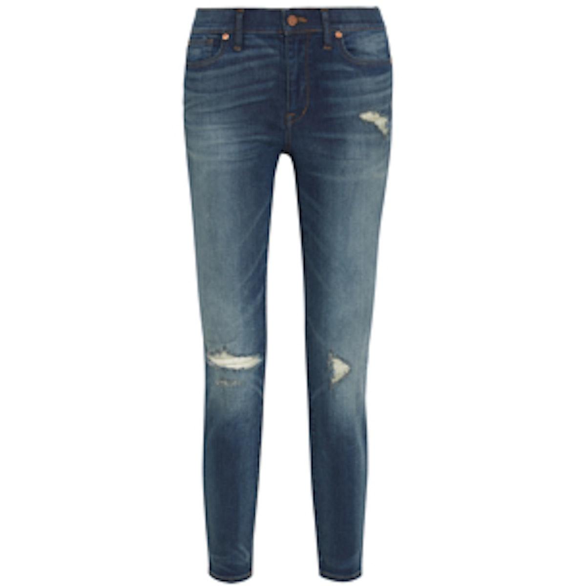 The High Riser Distressed Skinny Jean
