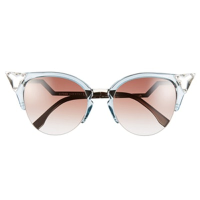 Crystal Tipped Cat Eye Sunglasses