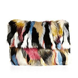 Faux-Fur Clutch Bag