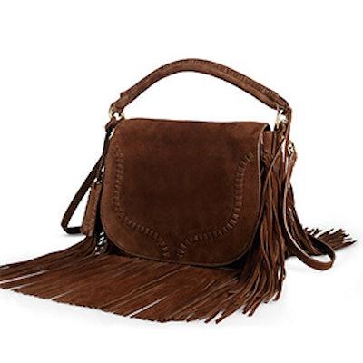 Fringed Suede Saddle Bag