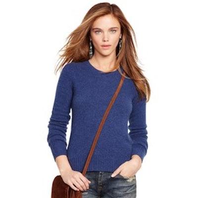 Wool-Cashmere Sweater in Derby Blue Heather