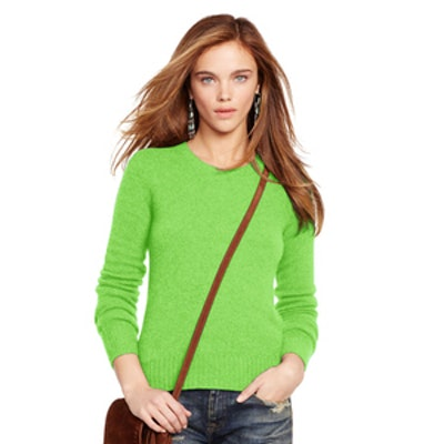 Wool-Cashmere Sweater in Neon Lime