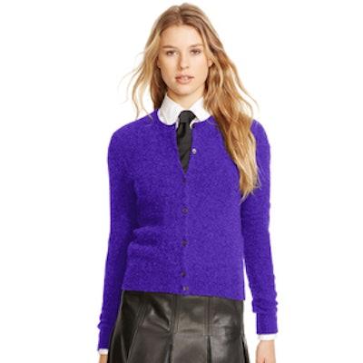 Wool-Cashmere Cardigan in Grand Prix Purple