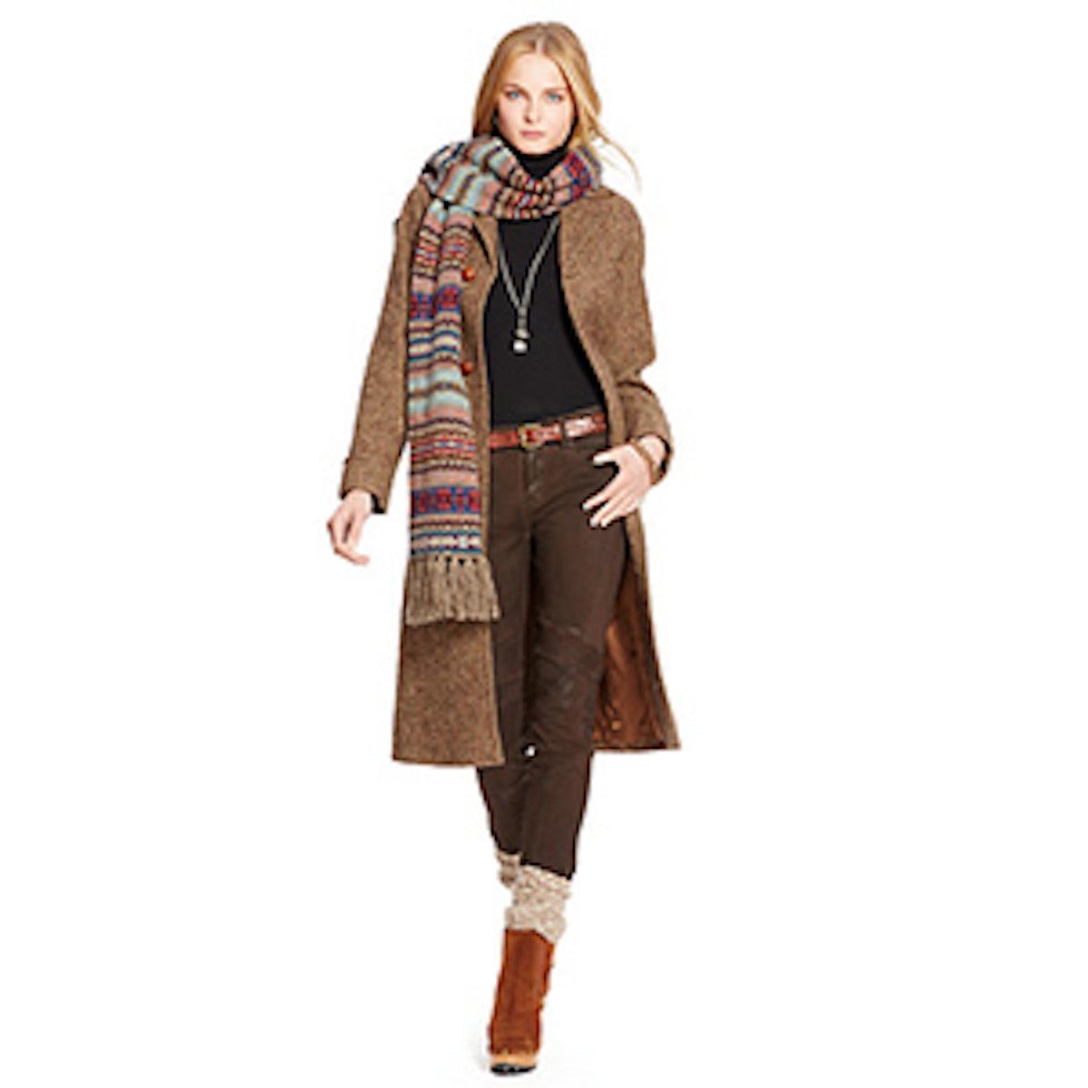 Wool Herringbone Coat