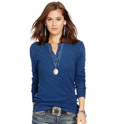 Long-Sleeved Henley Shirt