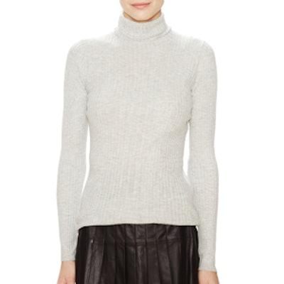 Skinny Ribbed Turtleneck Sweater