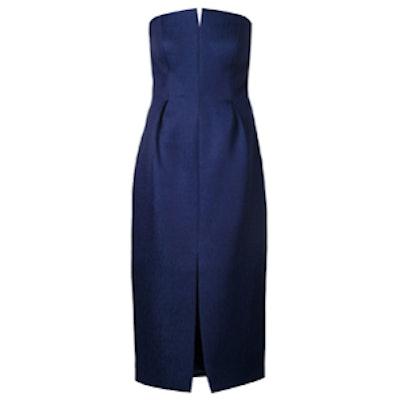 Strapless Front Slit Dress