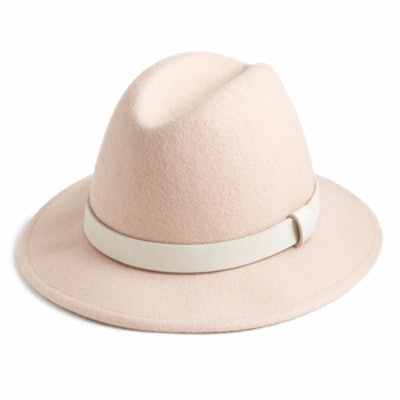 Classic Felt Hat with Leather Band