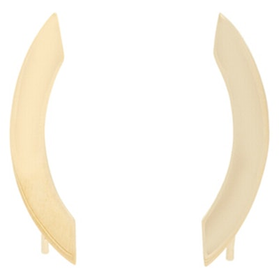 Curved Flat Plate Earrings