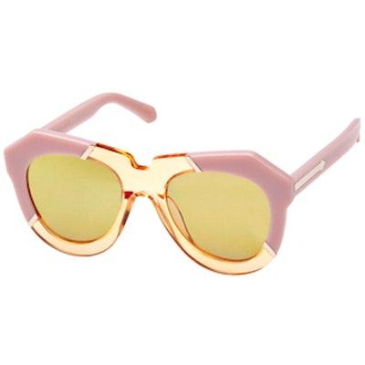 One Splash Dusty Pink Sunglasses