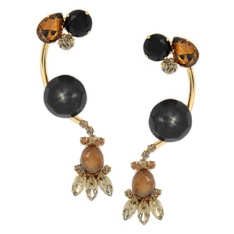 Crystal and Horn Ear Cuffs