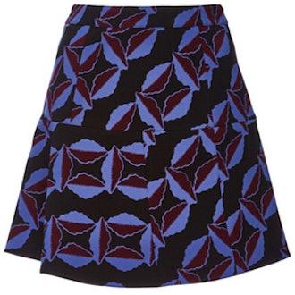 Virgin Wool Printed Skirt
