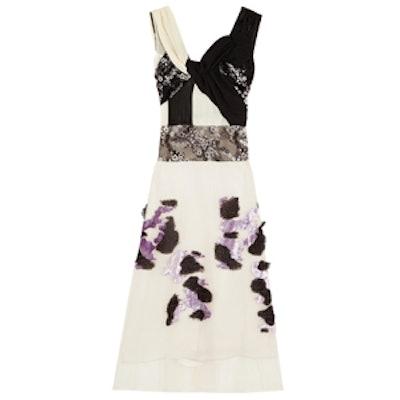 Lily Appliqued Organza Dress