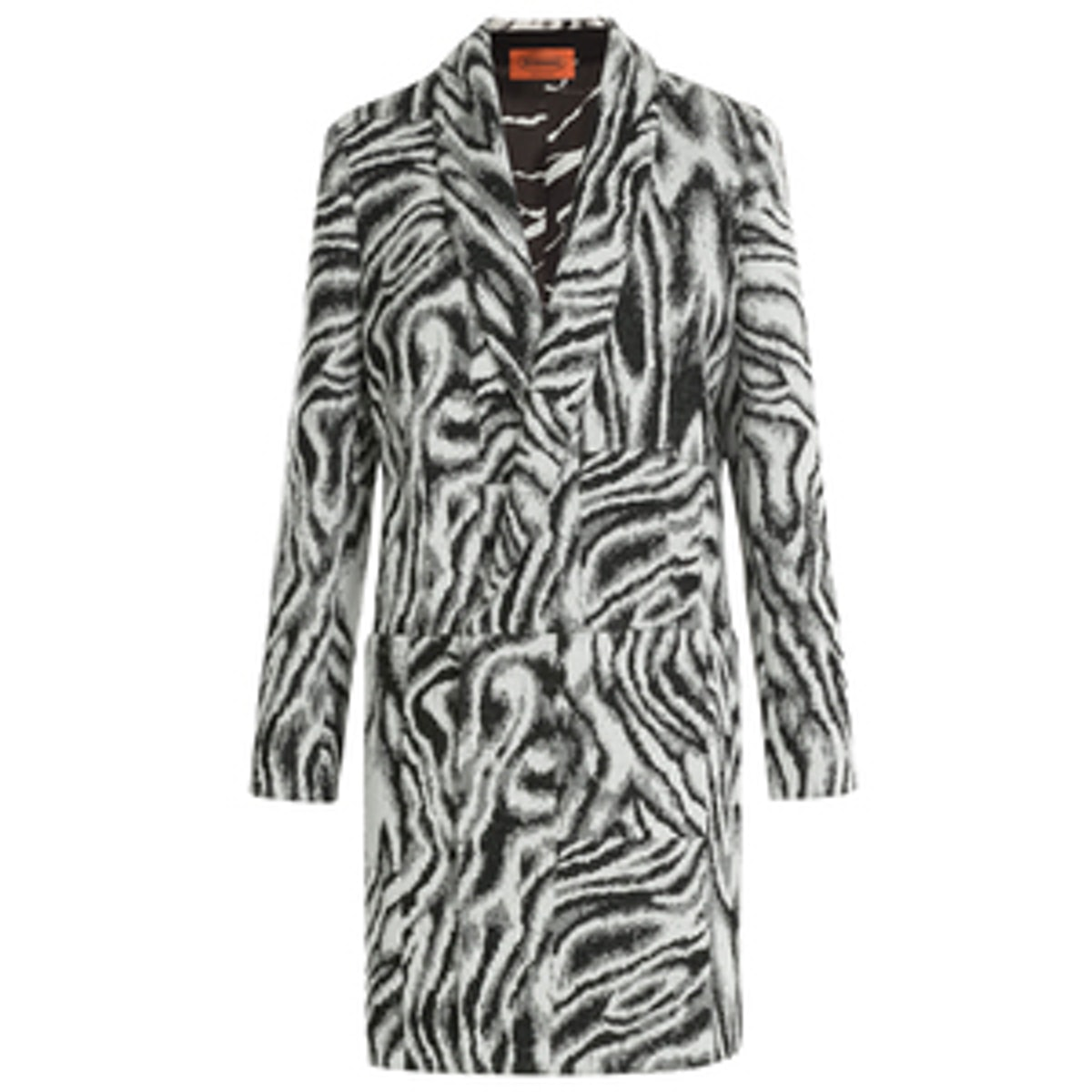 Zebra Print Wool Coat