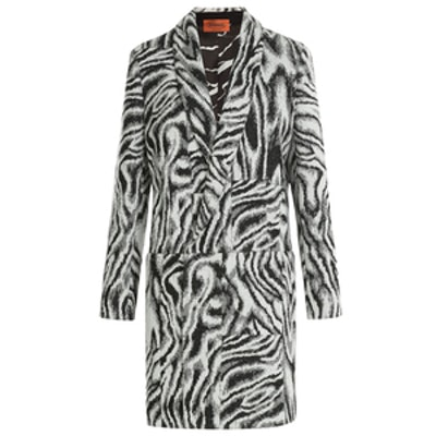 Zebra Print Wool Coat