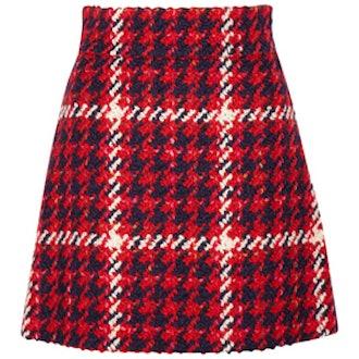 Wool And Cotton-Blend Bouclé-Tweed Mini Skirt