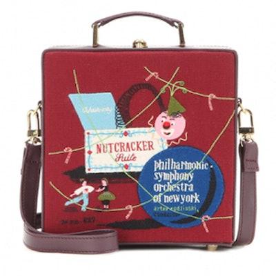 Nutcracker Embroidered Shoulder Bag