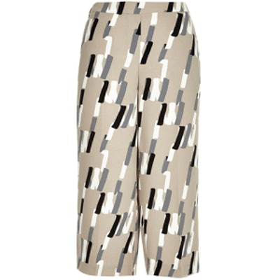 Abstract-Print Culottes