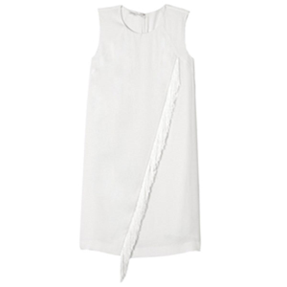 Fringe Crepe Dress