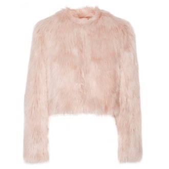 Cropped Faux Shearling Jacket