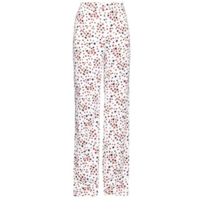 Star-Print Wide-Leg Trousers