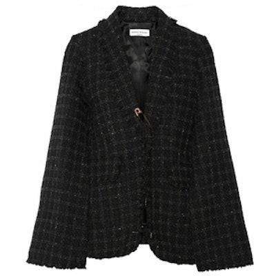 Cape-Effect Tweed Jacket