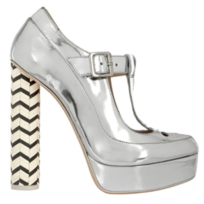 Dolly Metallic Leather Mary Jane Pumps