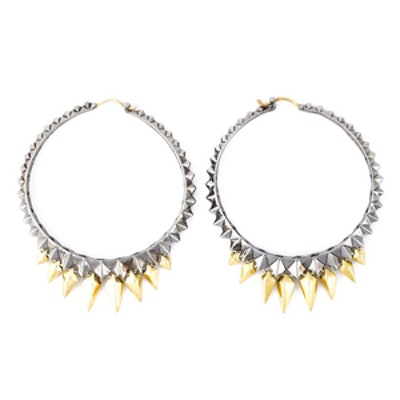 Studded Hoop Earrings