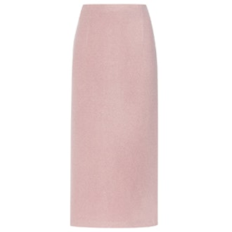 Wool-Boucle Midi Skirt