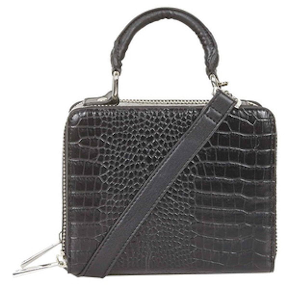Croc Effect Box Bag