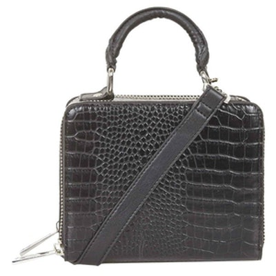 Croc Effect Box Bag