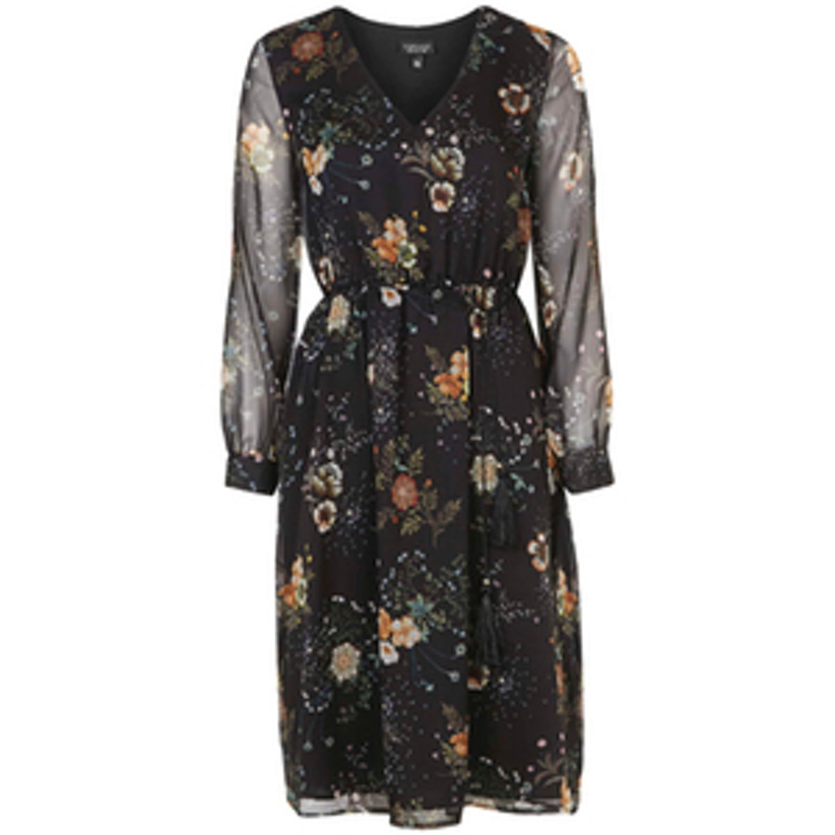 Dandelion Print Midi Dress