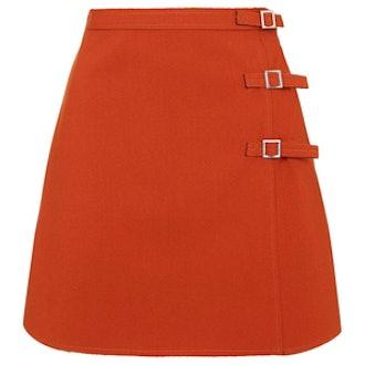 Buckle A-Line Mini Skirt