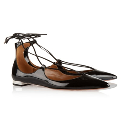 Christy Leather Point Toe Flats