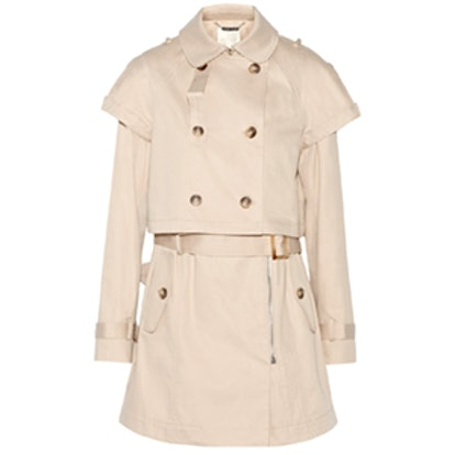Double-Breasted Convertible Trench Coat