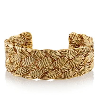 Braided Gold-Plated Cuff