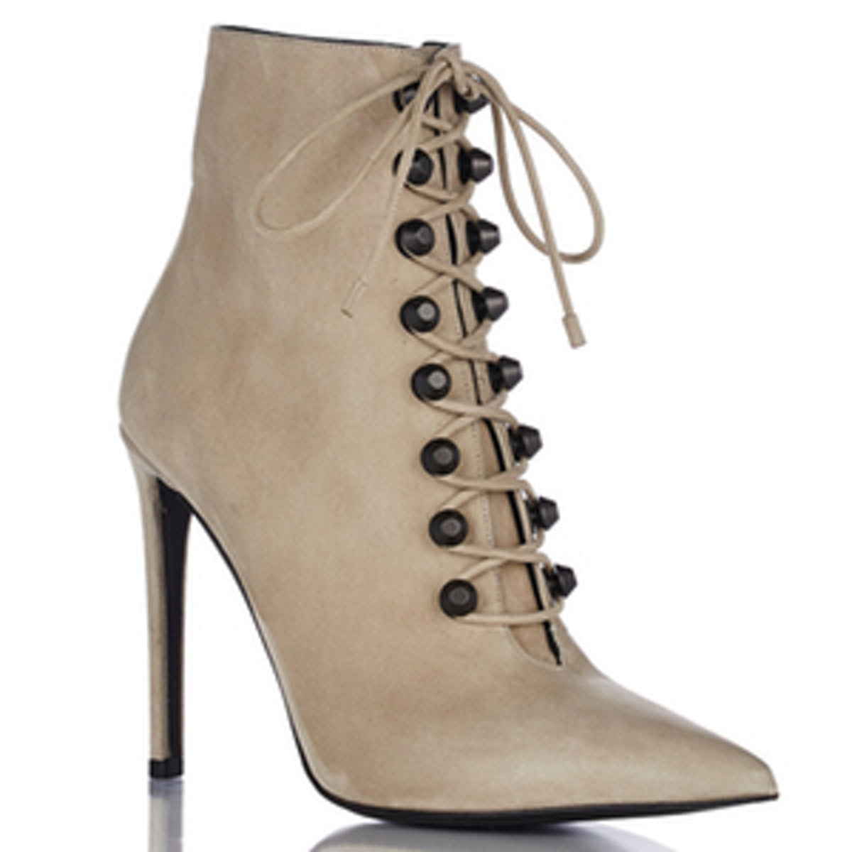 Studded Side-Zip Ankle Booties