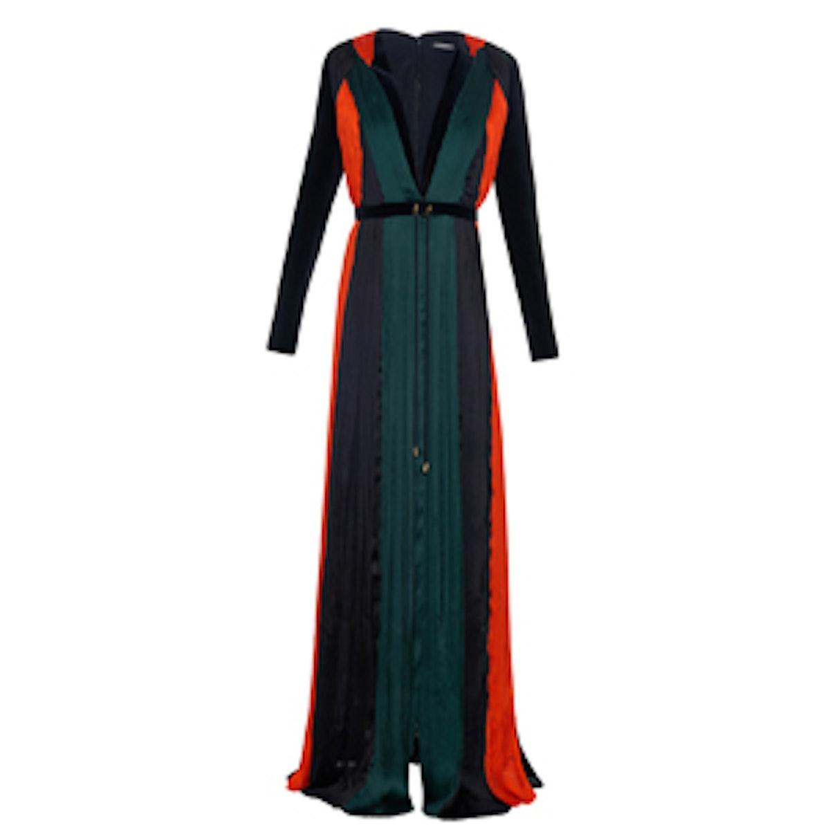 Pleated Silk-Chiffon Gown