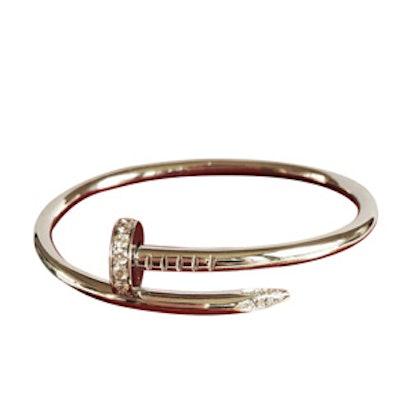 White Gold Nail Bracelet