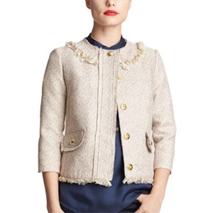 Maribelle Metallic Tweed Blazer