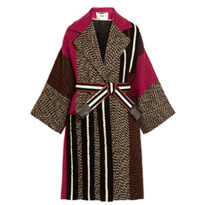 Patchwork Wool-Blend Bouclé Coat